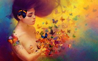 Nos amis les papillons (symbolique) - Page 3 Femme-11