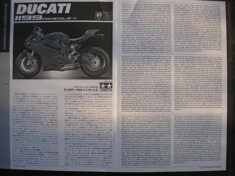 [TAMIYA] DUCATI 1199 PANIGALE S 1/12ème Réf 14129 Ducati50