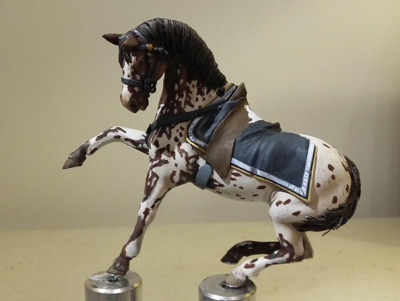 Cavalier sudiste KINGS FIGURINES Cheval12