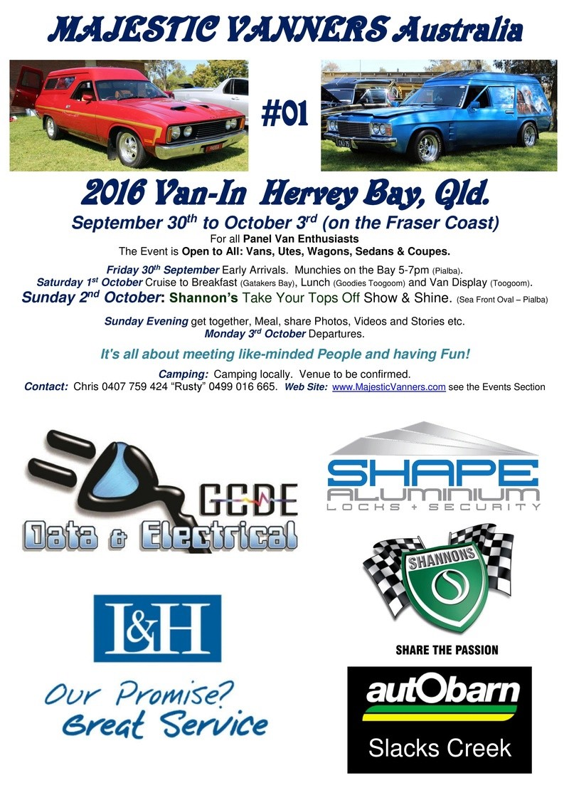 2016 Van-In #05 Albury/Wodonga; #01 Hervey Bay: 30th September to 3rd October. 2016_f18
