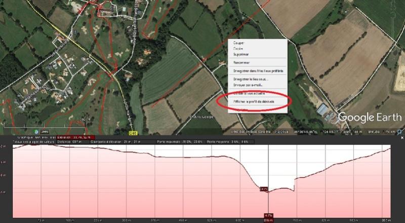 [résolu] Profil de dénivelé entre 2 repères précédemment créés sur Google Earth Parcou11