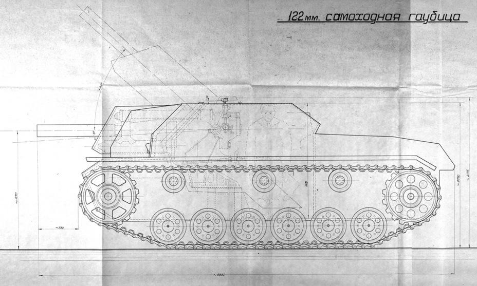 СГ-122 штурмовое орудие на трофейной базе Sg122s12