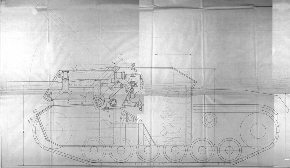 СГ-122 штурмовое орудие на трофейной базе Sg122s13