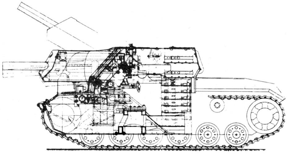 СГ-122 штурмовое орудие на трофейной базе Sg122s17