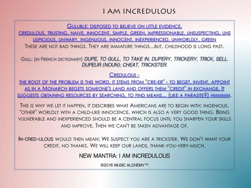 I AM INCREDULOUS Incred11