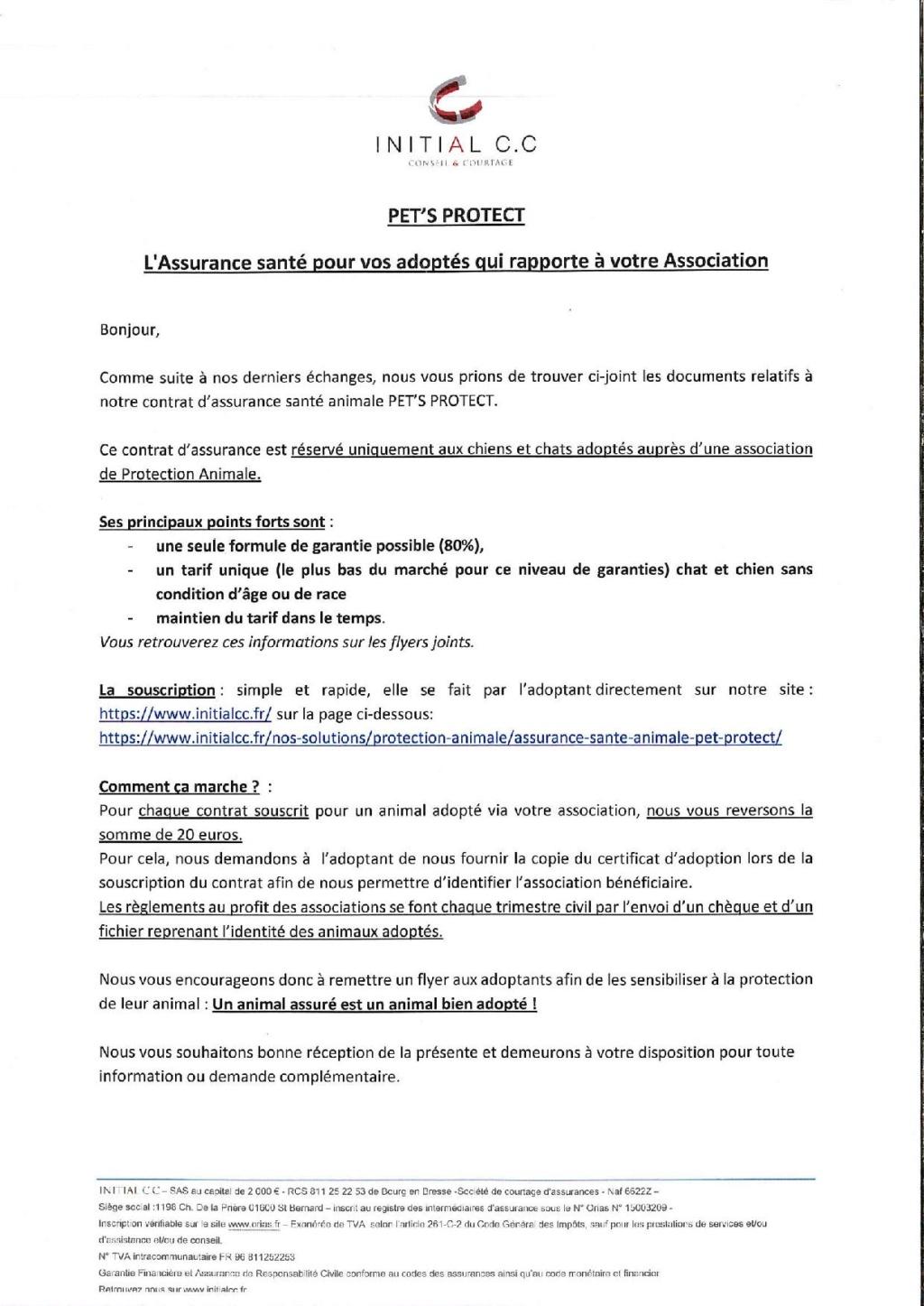 PARTENARIAT AVEC UNE ASSURANCE SANTE POUR CHAT Parten12