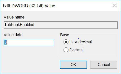 كيف توقف معاينة التبويب tab في متصفح Microsoft Edge Value-10