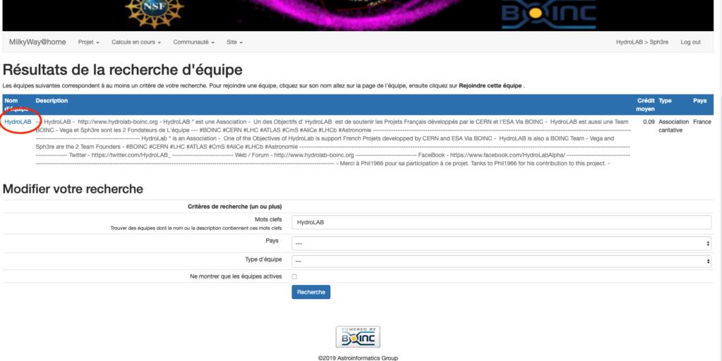 Comment rejoindre l'équipe HydroLAB / BOINC / France Clic_h10