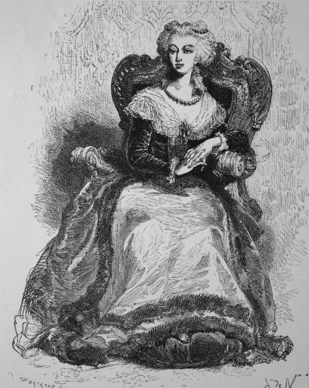 Marie-Antoinette au livre en robe bleue - Page 3 Marija10