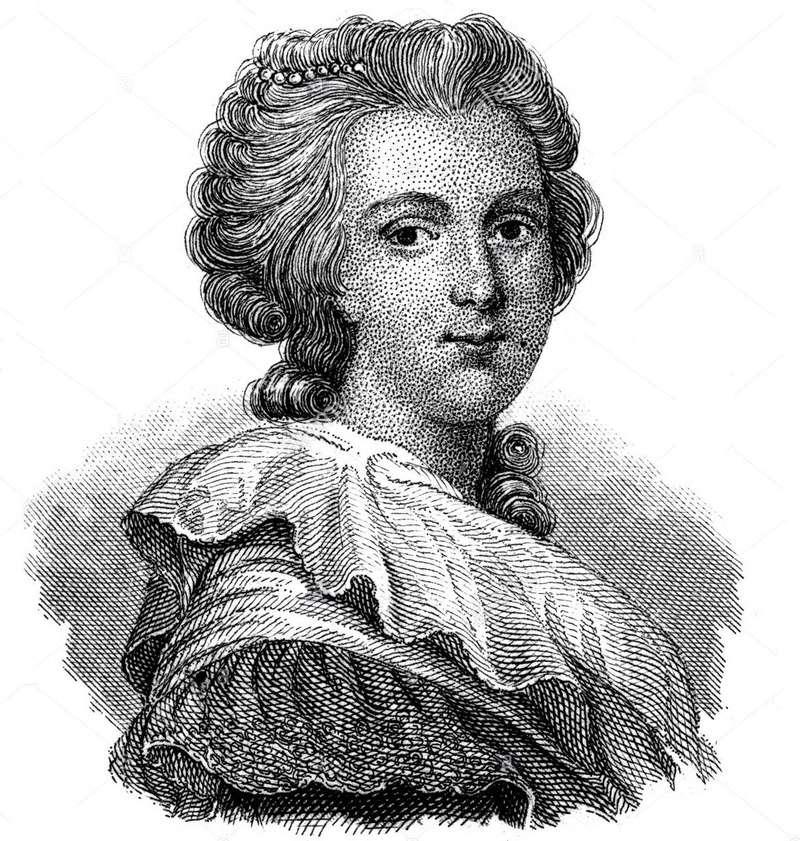 Portrait de la Reine au livre en robe rouge Mil10