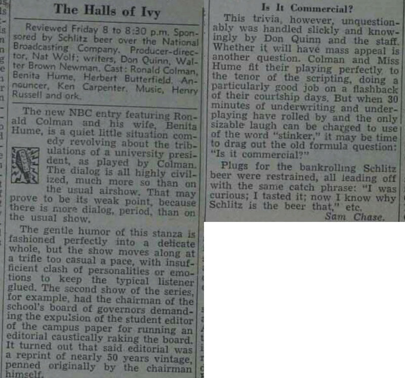 The Halls of Ivy 1950-011