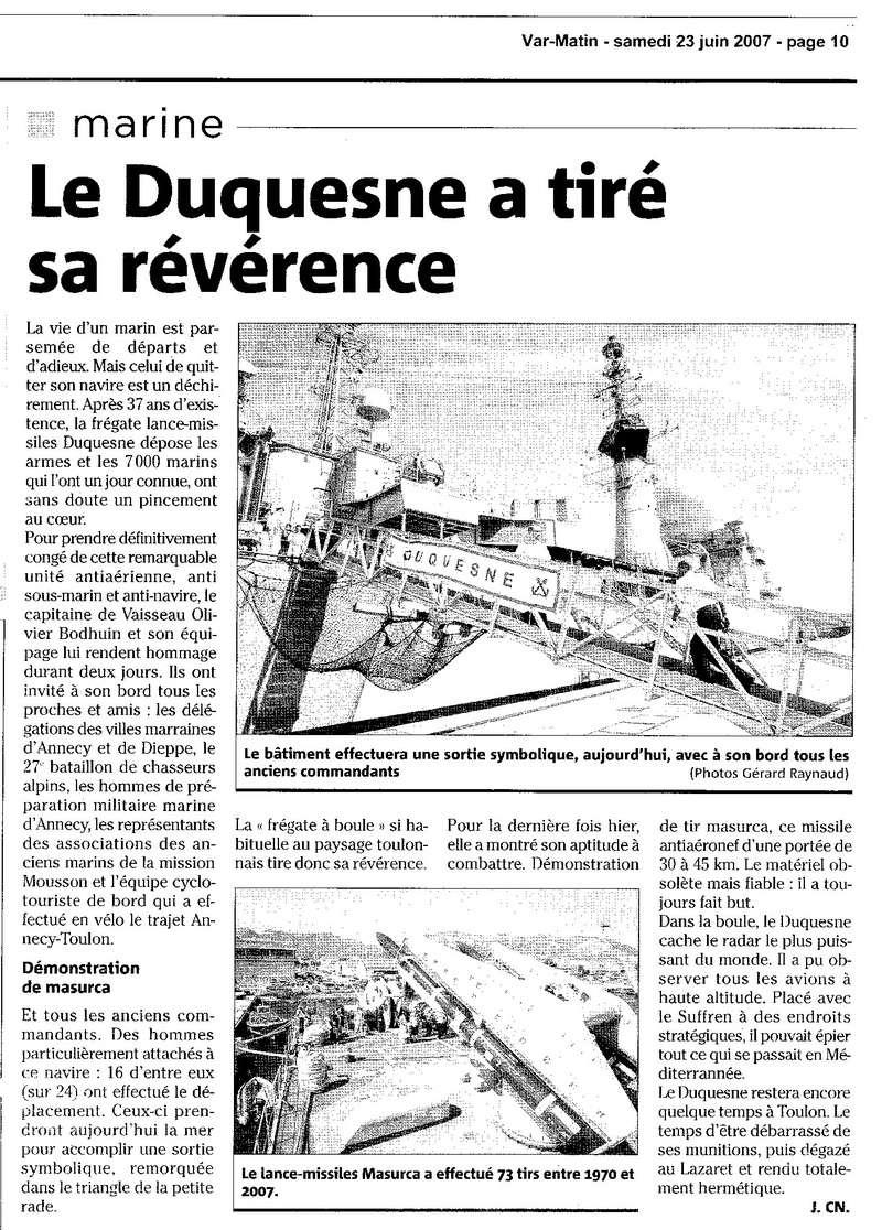 DUQUESNE (FRÉGATE) - Page 16 Duques11