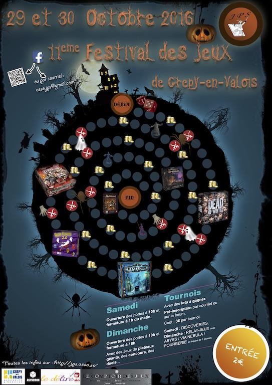 [Crépy en Valois] 29-30octobre 2016 - Festival de Jeux de JPS Affich11