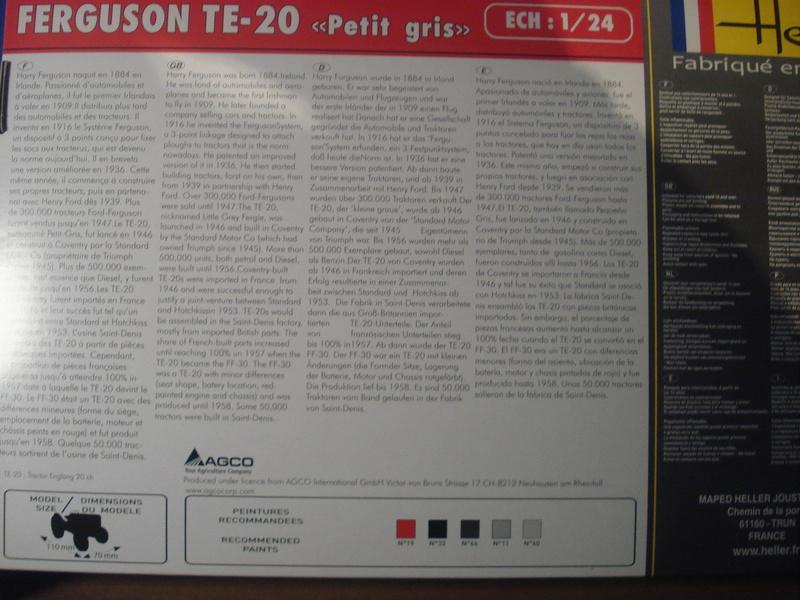 "[HELLER]Analyse  FERGUSON ""petit -gris"" TE20 / FF30  réf: 81401 - 1/24eme Dsc05921"