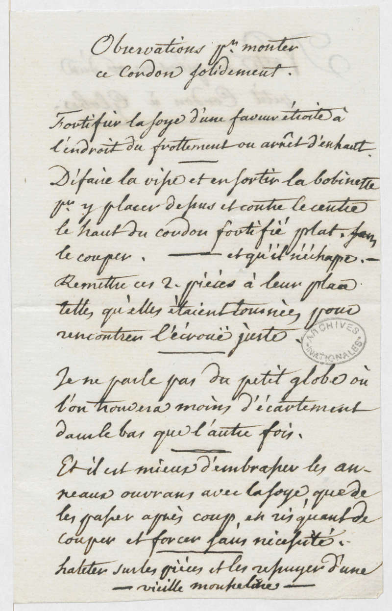 aménagements - Aménagements pour visites privées au château de Versailles ? - Page 6 Cordon11
