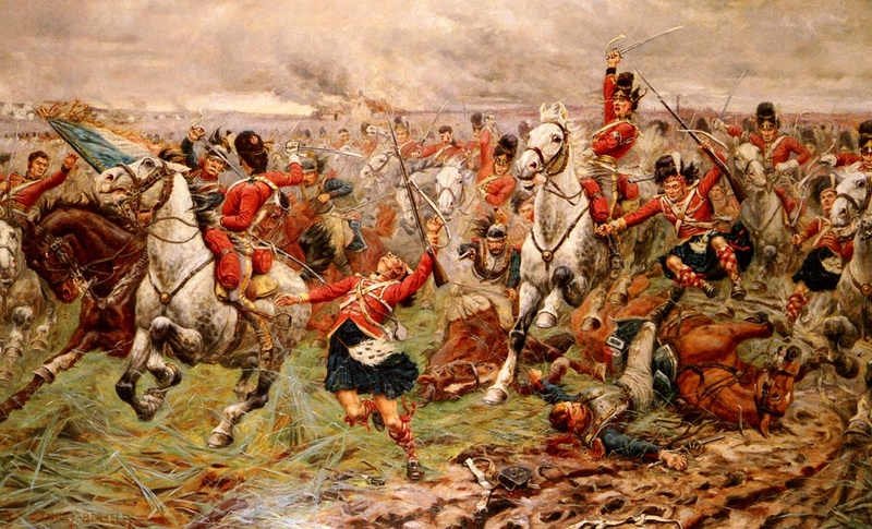 Waterloo.... Morne plaine agitée d'un jour, morte pour toujours. Scotsg10
