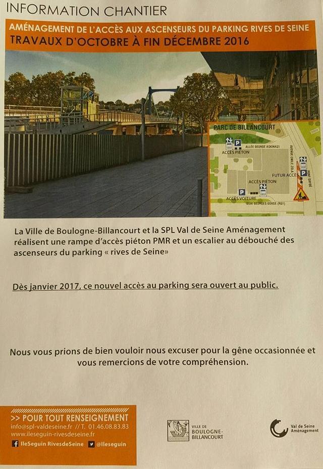 Parkings quartier Seguin Rives de Seine 14720510