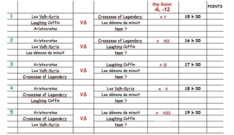 Planning pour samedi 17 septembre Tourno14