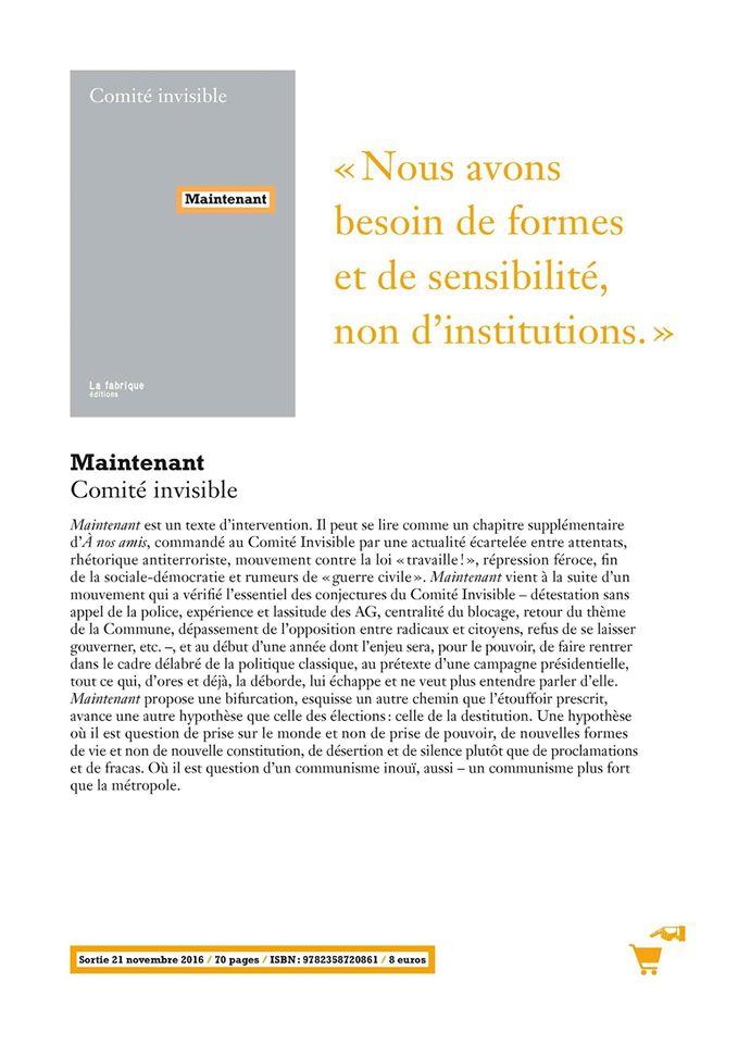 Nouveau bouquin du Comité Invisible 14195410