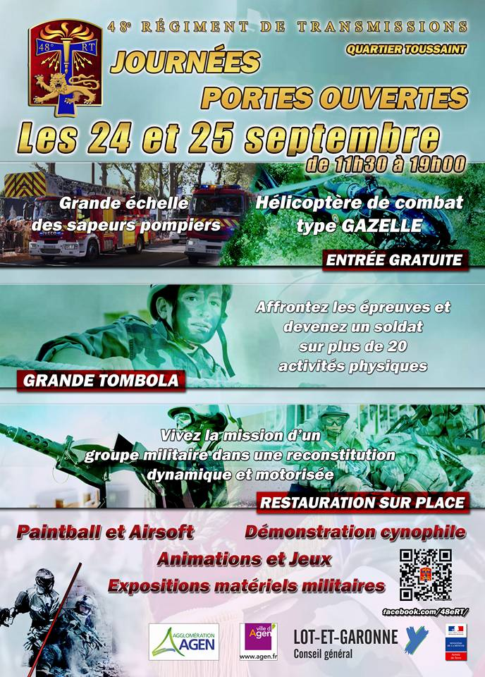 24 & 25/09: JPO au 48è Rgt transmissions a Agen (47) 14370010