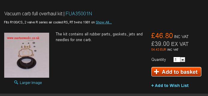 kit carbu  choix vendeur et choix pièces contenues dans kit.. Mw110