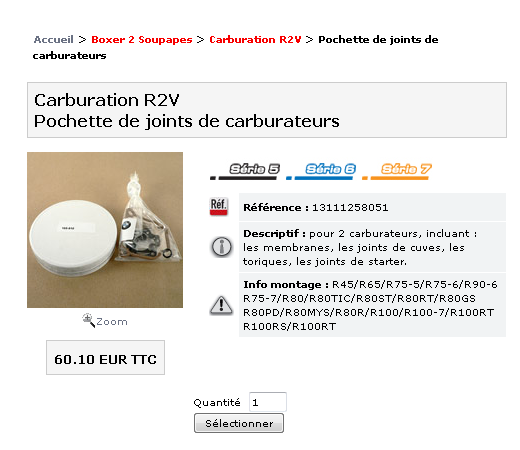 kit carbu  choix vendeur et choix pièces contenues dans kit.. Rt10