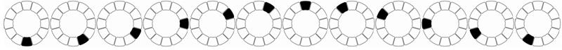 Une représentation géométrique des notes 0110