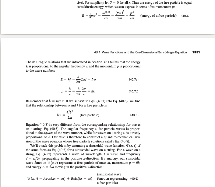 Why is the wave function a complex number Sc112