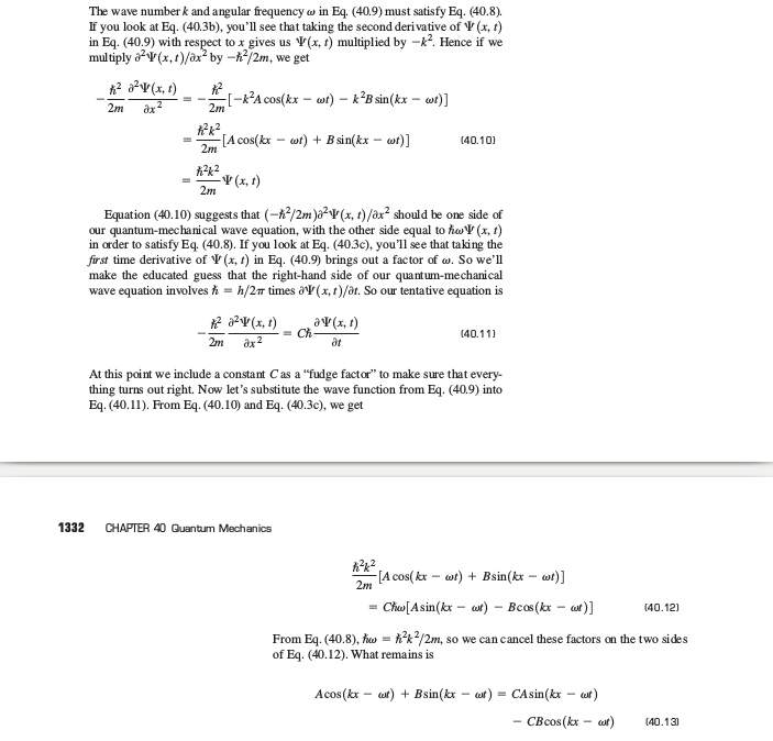Why is the wave function a complex number Sc212
