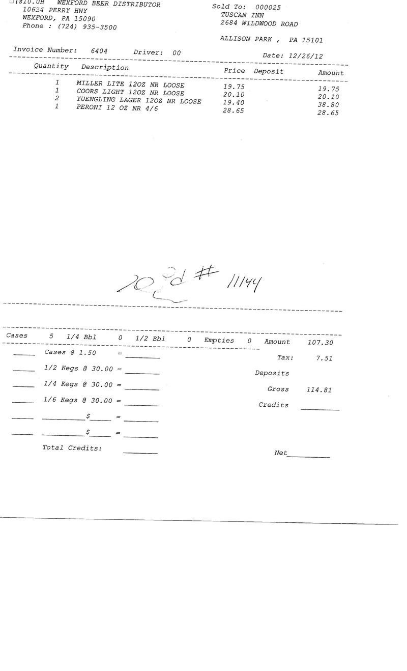 Invoices 64xx 64xx0011