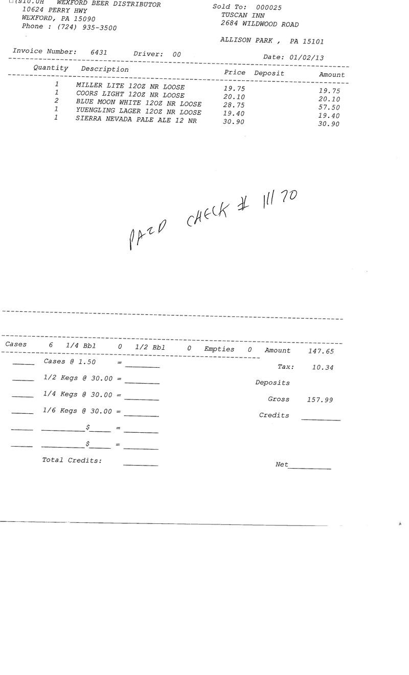 Invoices 64xx 64xx0012