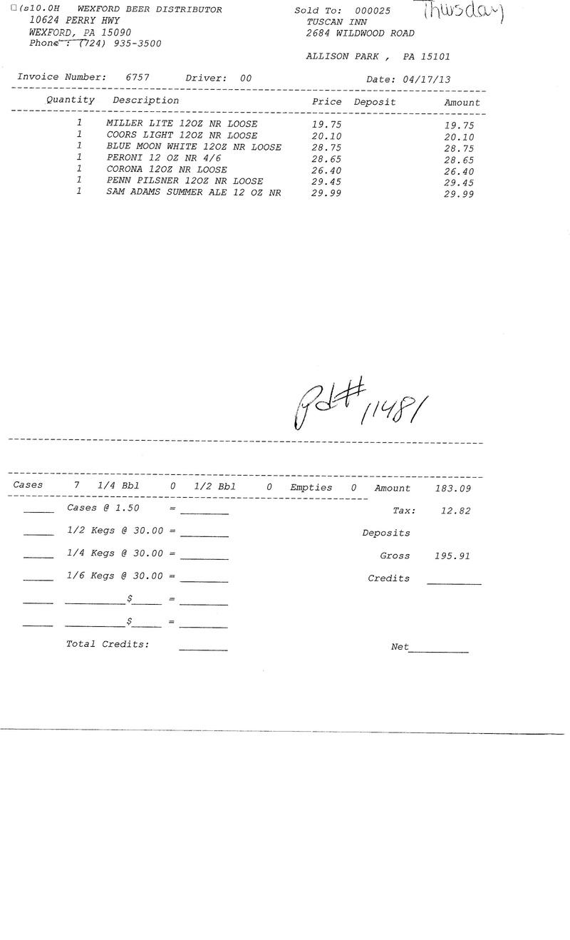 Invoices 67xx 67xx0010