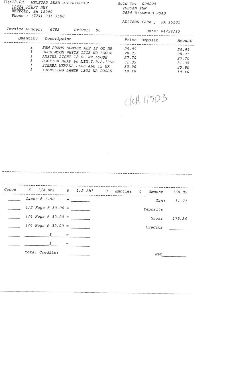 Invoices 67xx 67xx0011