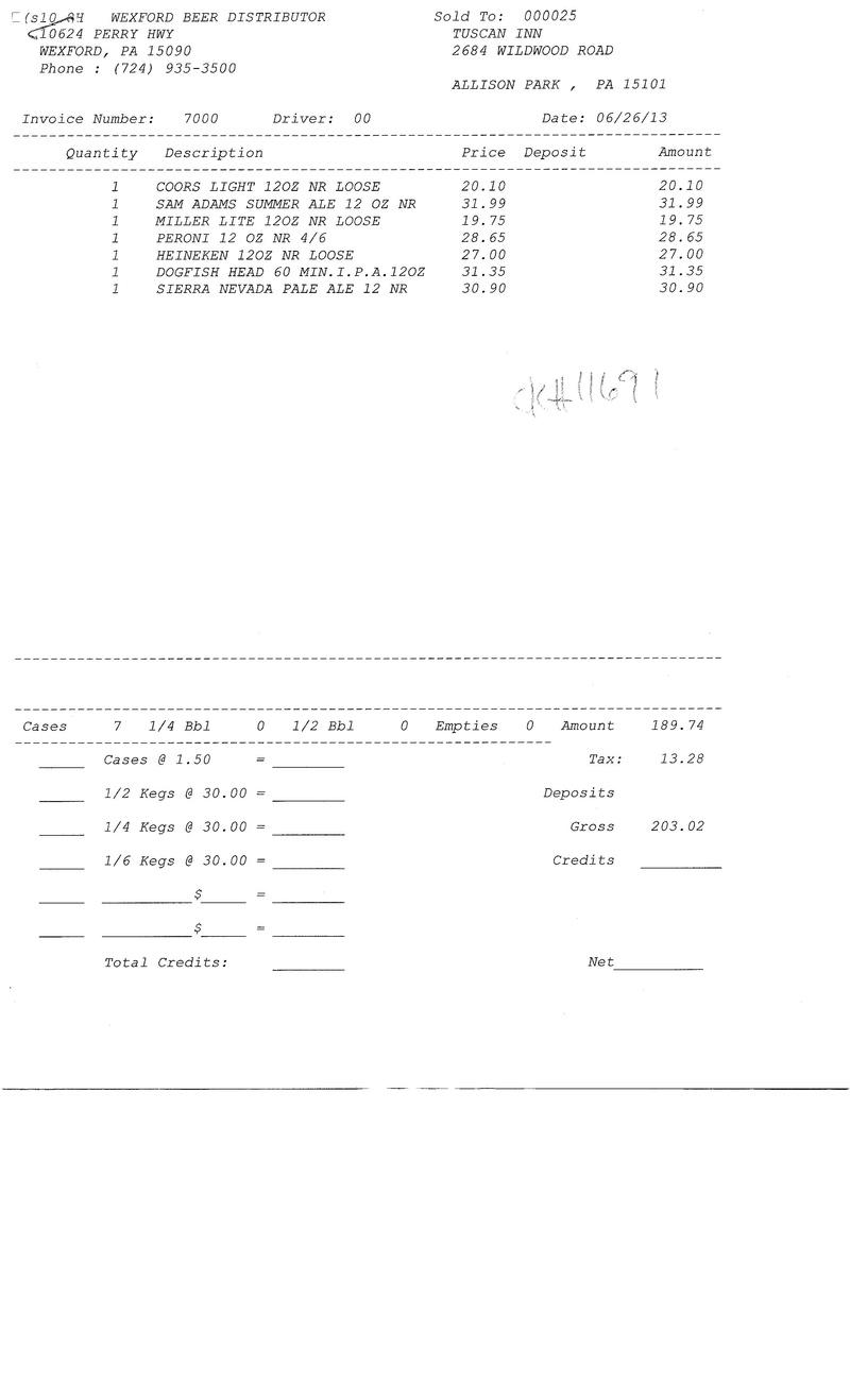 Invoices 70xx 70xx0010