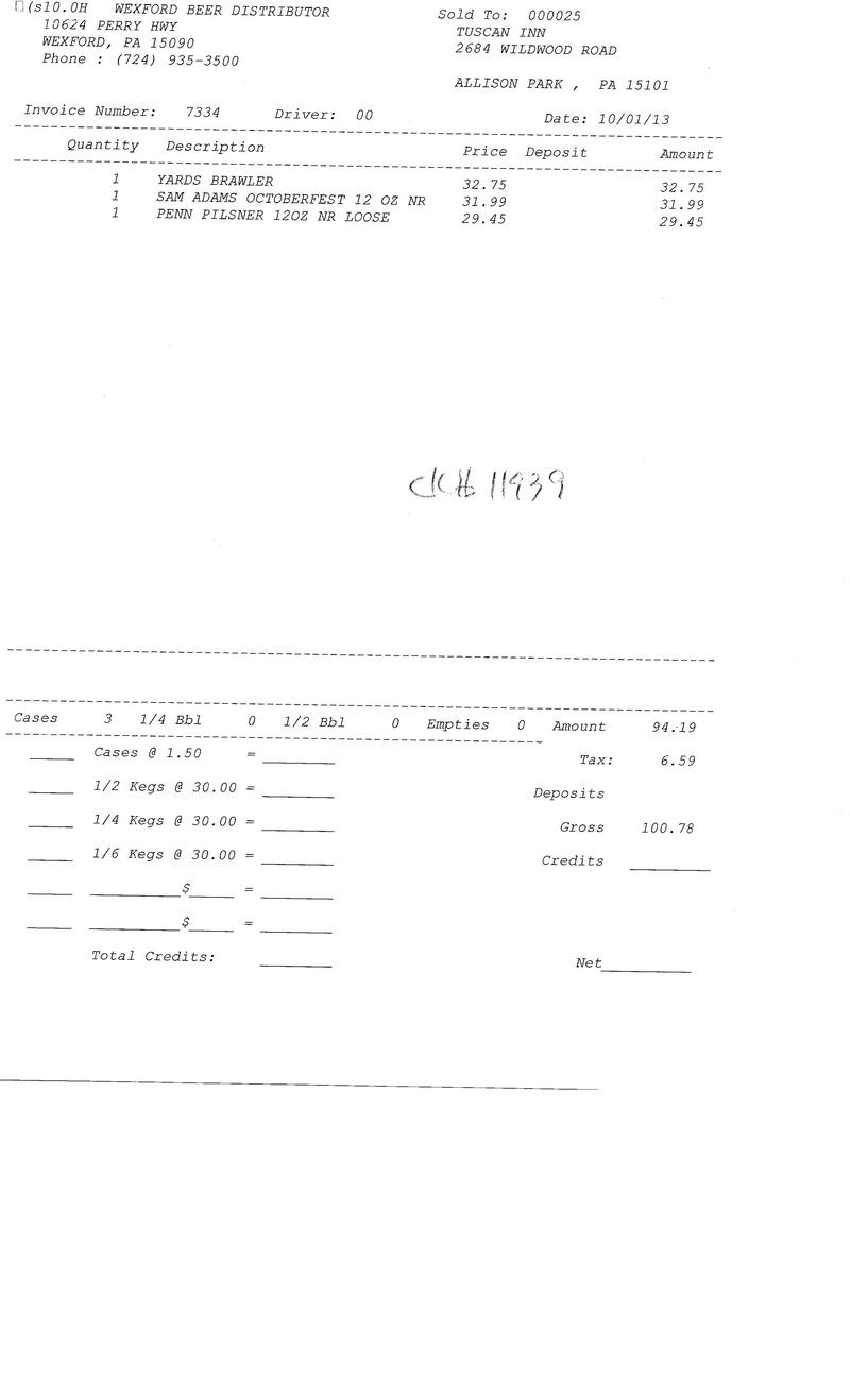 Invoices 73xx 73xx0011