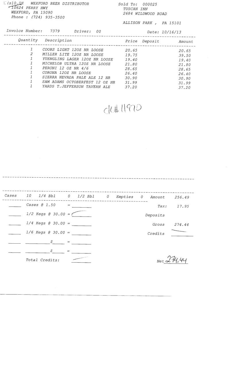 Invoices 73xx 73xx0012