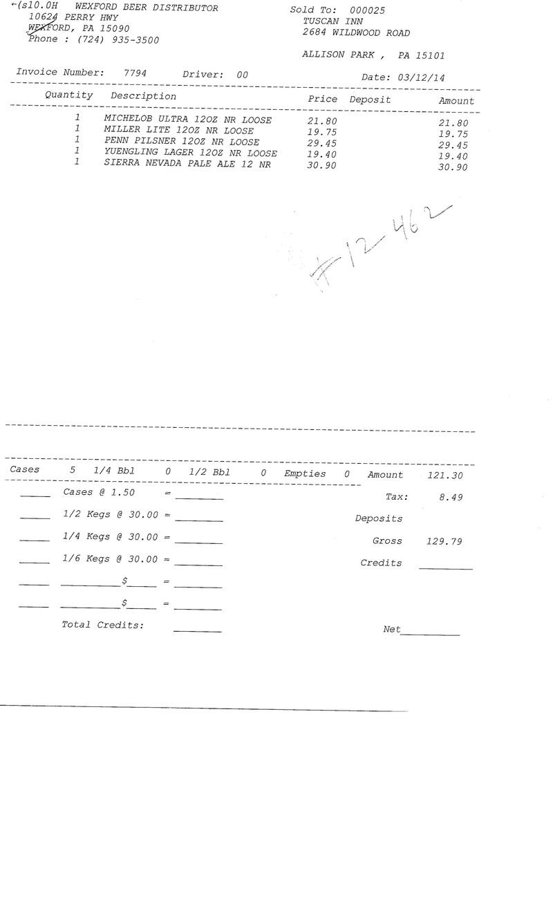 Invoices 77xx 77xx0012