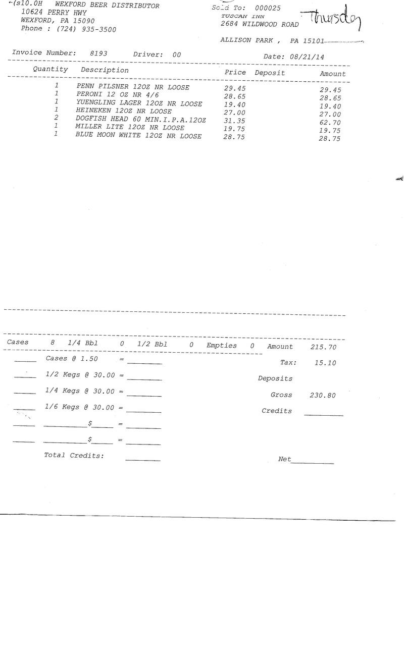 Invoices 81xx 81xx0011