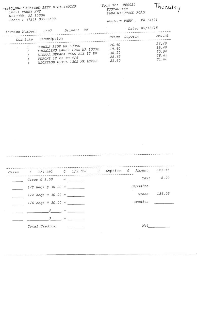 invoice 85xx 85xx0018
