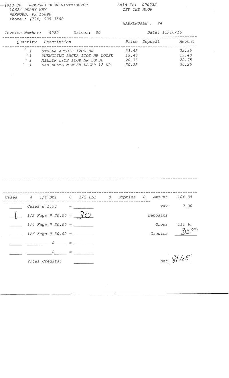invoices 90xx 90xx0021
