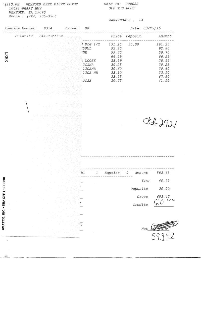 invoices 93xx 93xx0032