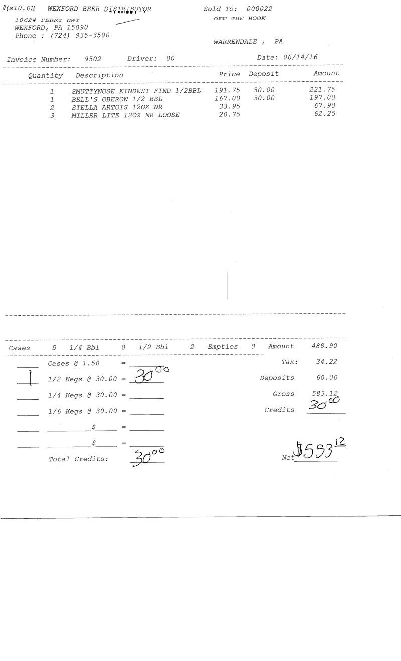 invoices 95xx 95xx0030