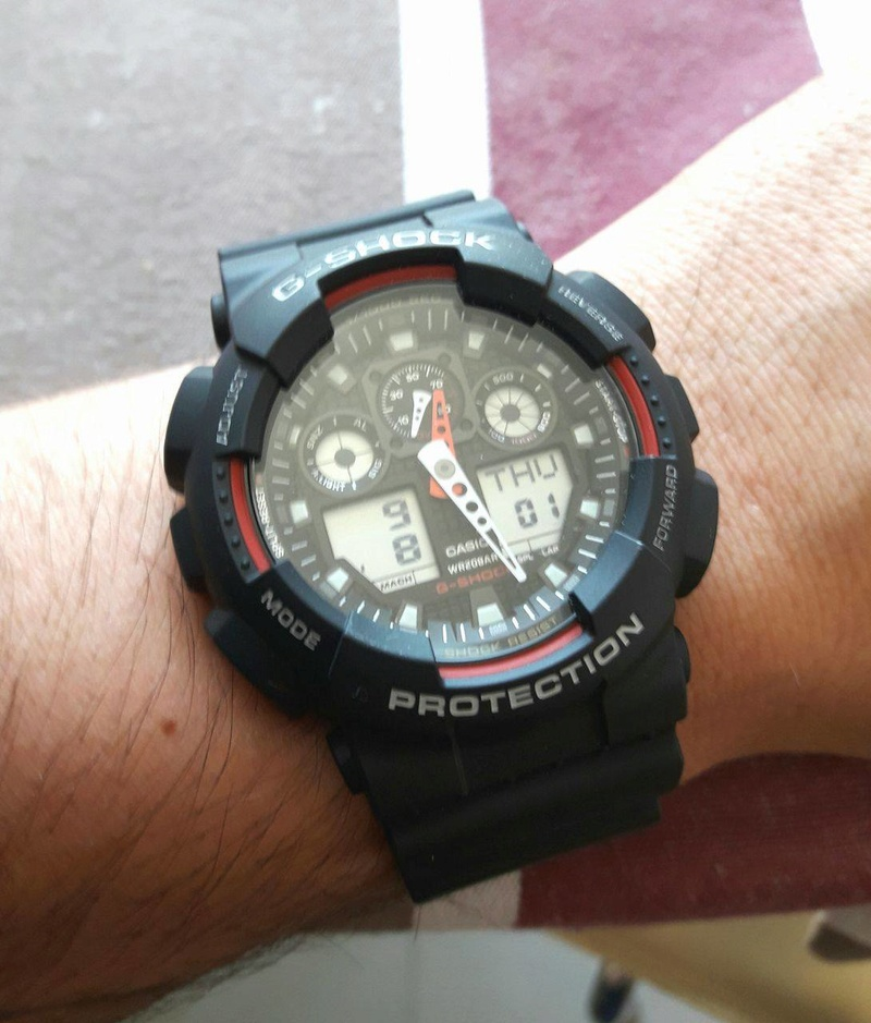 Nouveau joujou: Casio G-SHOCK GA-100-1A4ER 14274510