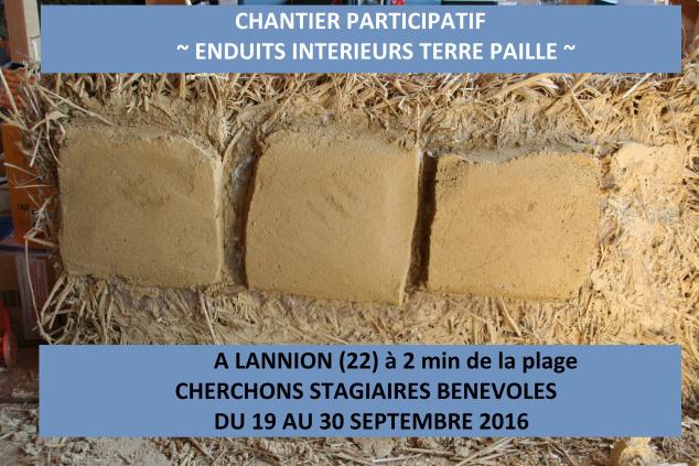 Enduits intérieurs Terre Paille en Bretagne - Lannion Img_5210