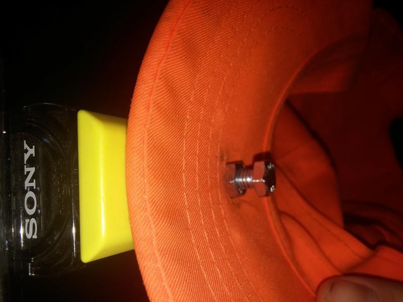 fixation pour sony hdr as 15 par la casquette  20160912