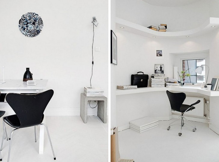 18 góc làm việc ấn tượng của người yêu thiết kế, sáng tạo ! White-10