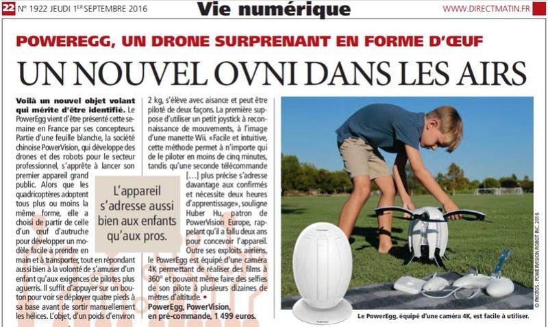Exemple de méprise : le drone PowerEgg 2016-010