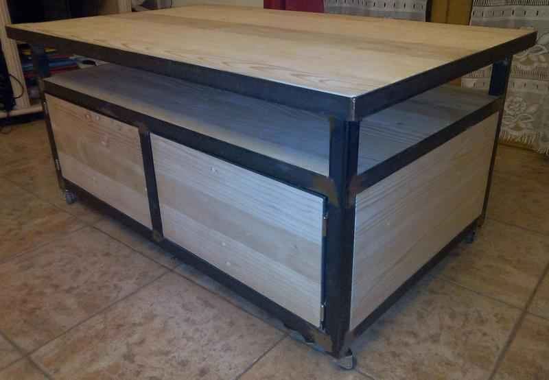 Table basse métal et bois de récup Img_2010