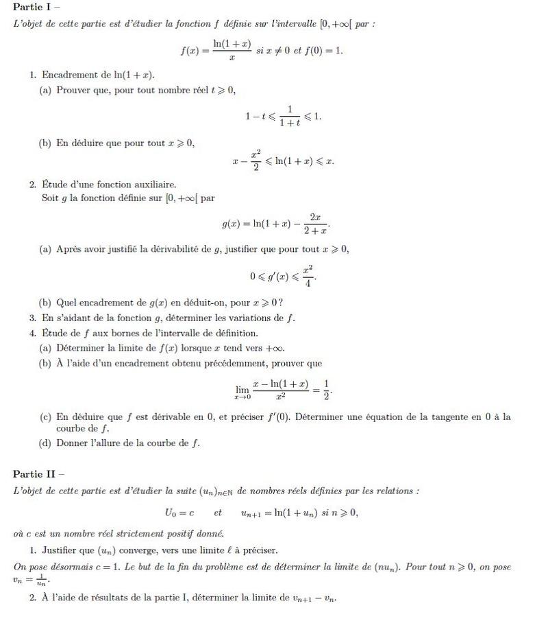 PROBLEME D'ANALYSE Pb11