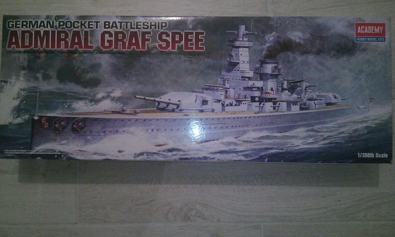 Admiral Graf Spee, Academy, 1/350 Boite10